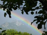 ausblick regenbogen